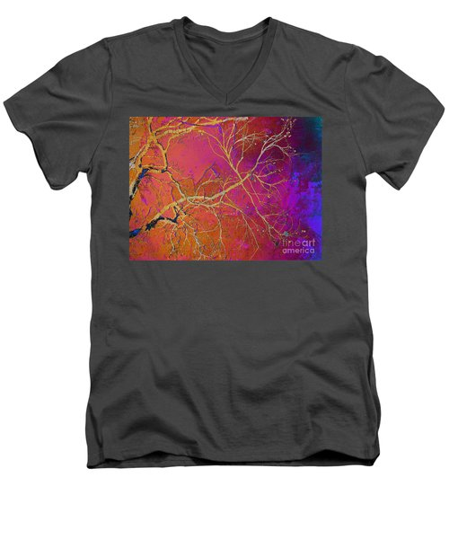 Crackling Branches Men's V-Neck T-Shirt