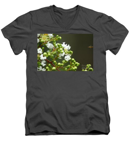 Crape Myrtle Men's V-Neck T-Shirt