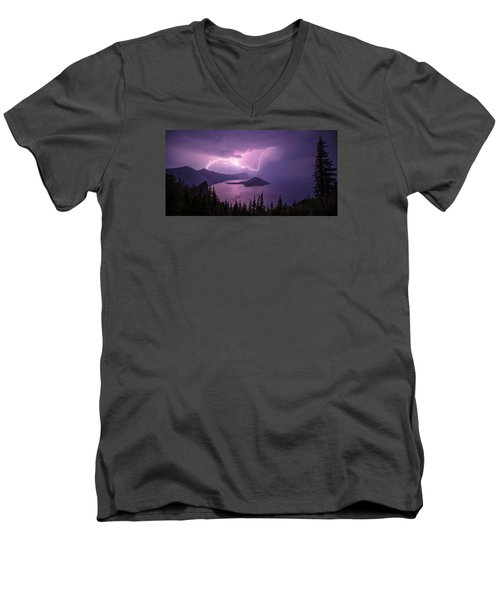 Crater Storm Men's V-Neck T-Shirt by Chad Dutson