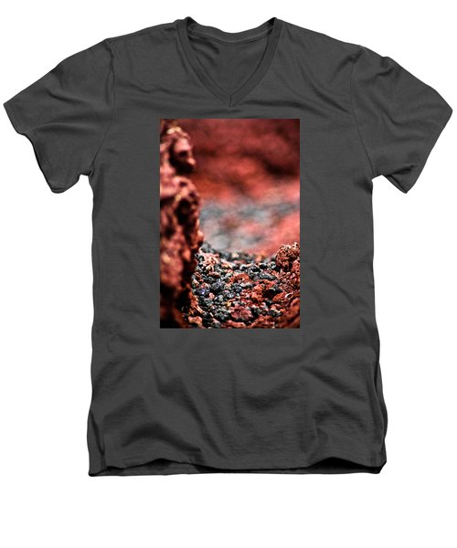 Craters Of The Moon 1 Men's V-Neck T-Shirt by Joel Loftus