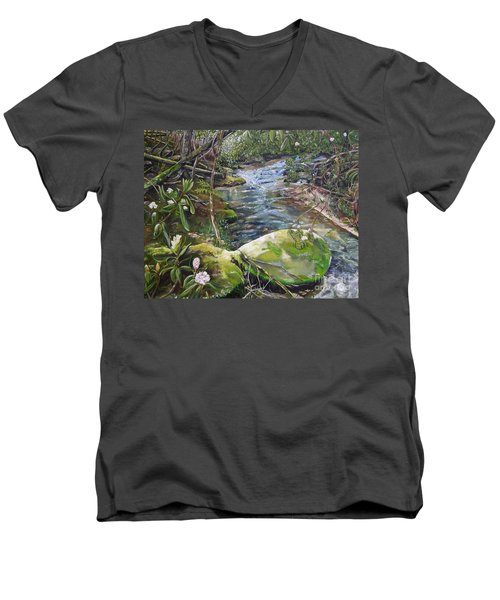 Creek -  Beyond The Rock - Mountaintown Creek  Men's V-Neck T-Shirt