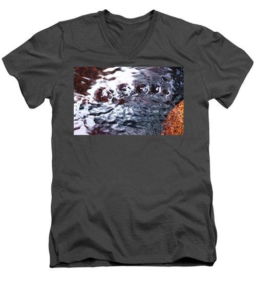 Creek Twirls Abstract Macro Men's V-Neck T-Shirt