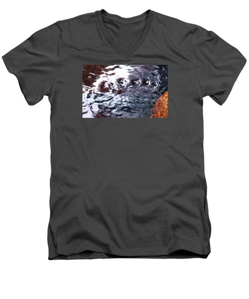 Creek Twirls Abstract Macro Men's V-Neck T-Shirt