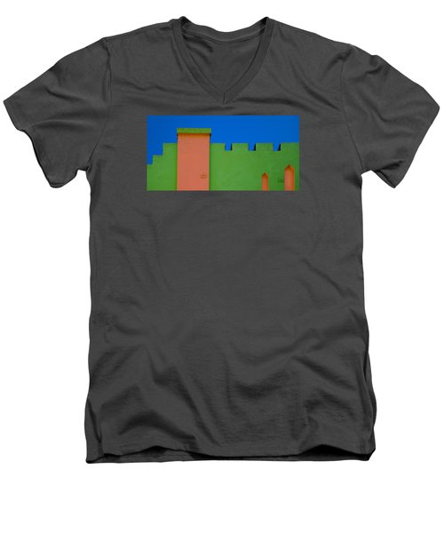 Crenellated Roof Men's V-Neck T-Shirt