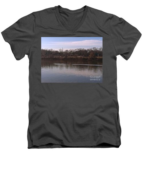 Crew On The Schuylkill - 1 Men's V-Neck T-Shirt