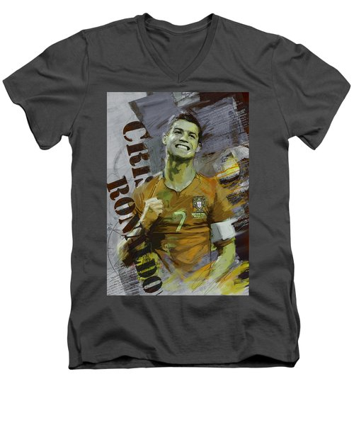 Cristiano Ronaldo Men's V-Neck T-Shirt by Corporate Art Task Force
