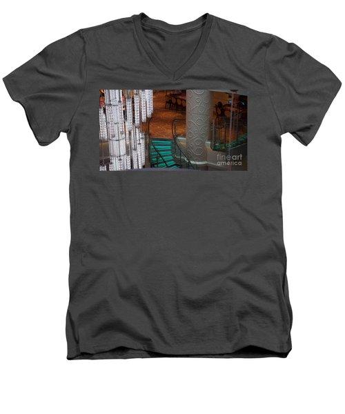 Crooked Stairs Norwegian Men's V-Neck T-Shirt