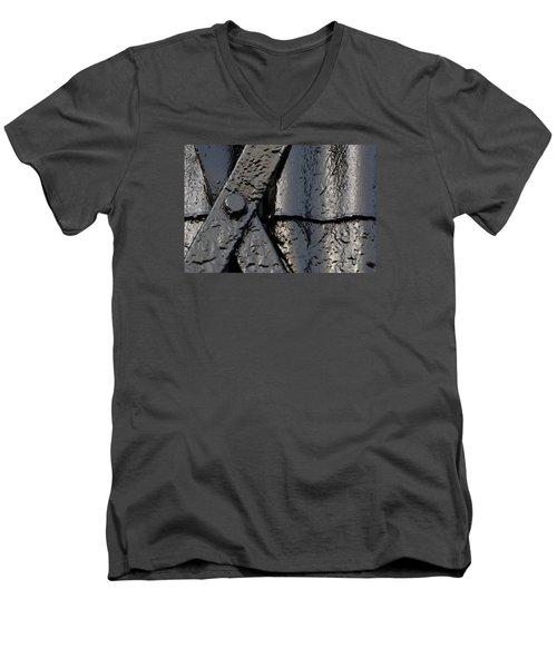 Cross Over Men's V-Neck T-Shirt by Wendy Wilton