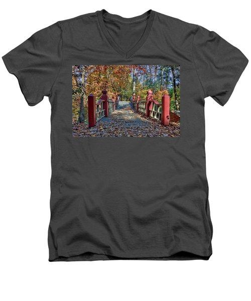 Crossing The Crim Dell Bridge II Men's V-Neck T-Shirt