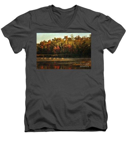 Crossing The Lake Men's V-Neck T-Shirt