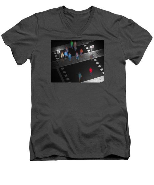 Crosswalk Men's V-Neck T-Shirt