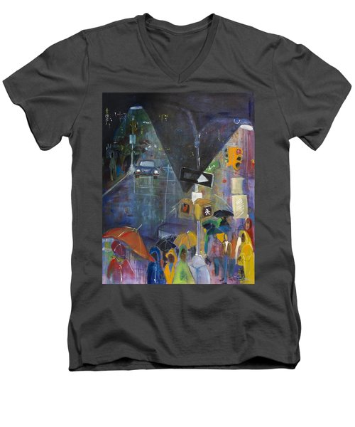 Crowded Intersection Men's V-Neck T-Shirt