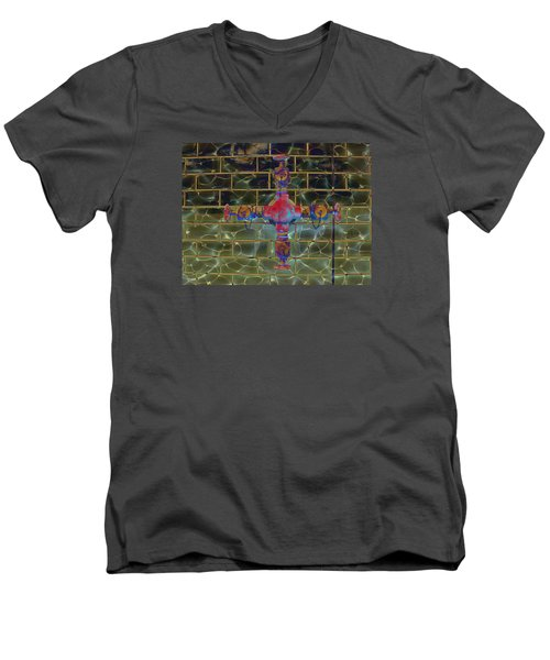 Cruciform The Second Men's V-Neck T-Shirt by MJ Olsen