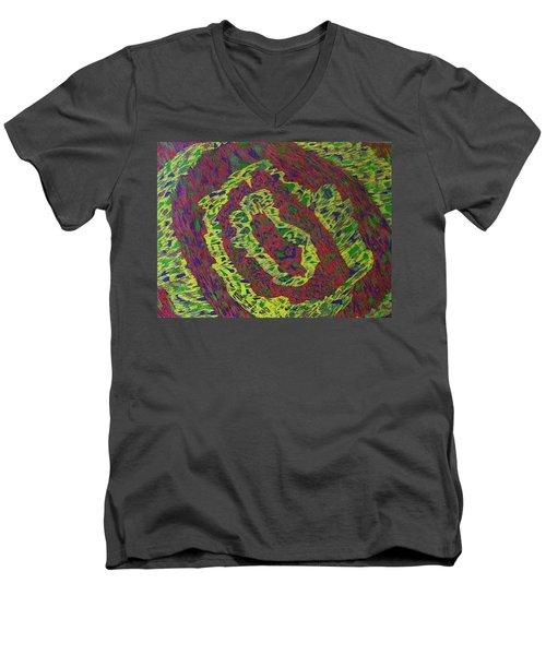 Crying Rocks Men's V-Neck T-Shirt by Jonathon Hansen