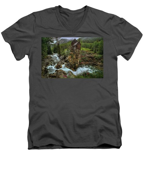Crystal Mill Riverside Men's V-Neck T-Shirt