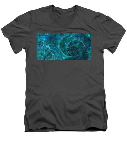 Crystal Nebula-ii Men's V-Neck T-Shirt
