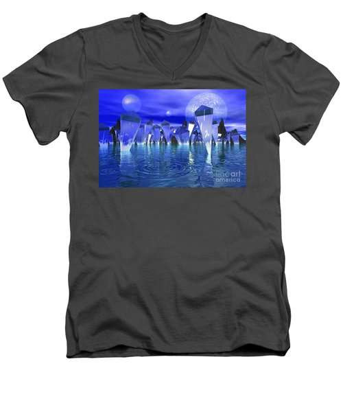 Men's V-Neck T-Shirt featuring the photograph Crystal River by Mark Blauhoefer