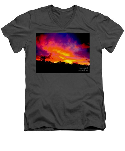 Crystal Sunrise Men's V-Neck T-Shirt by Mark Blauhoefer
