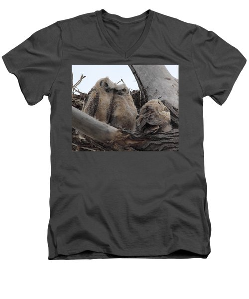 Men's V-Neck T-Shirt featuring the photograph Cuddling Up by Shane Bechler