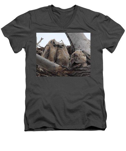 Cuddling Up Men's V-Neck T-Shirt