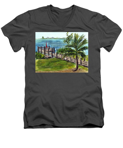 Cudjoe Dock Men's V-Neck T-Shirt