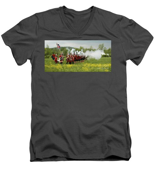 Culloden Loyalists Men's V-Neck T-Shirt by Carol Lynn Coronios