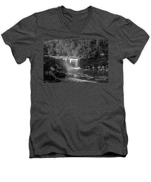 Cumberland Falls Five Bw Men's V-Neck T-Shirt