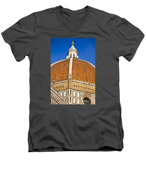 Cupola On Florence Duomo Men's V-Neck T-Shirt by Liz Leyden