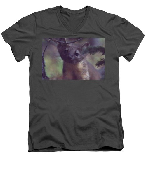 Men's V-Neck T-Shirt featuring the photograph Curiosity by Shane Bechler