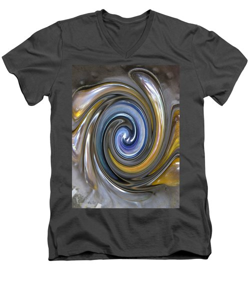 Curlicue Twirl Men's V-Neck T-Shirt