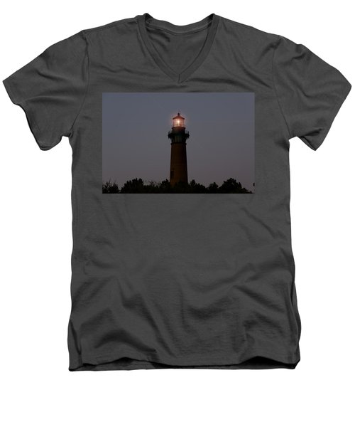 Men's V-Neck T-Shirt featuring the photograph Currituck Lighthouse by Greg Reed