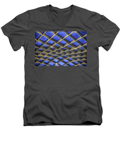 Curvilinear Skylight Structure  Men's V-Neck T-Shirt