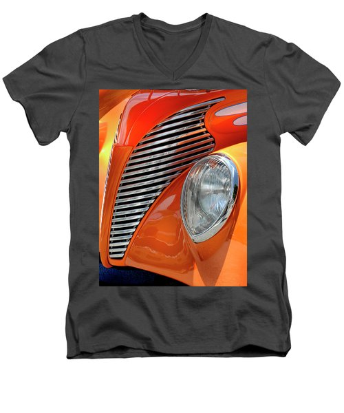 Men's V-Neck T-Shirt featuring the photograph Custom Car Detail by Dave Mills