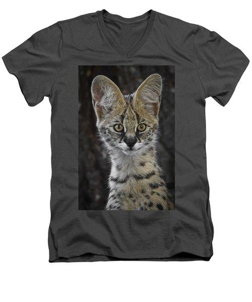 Cute As A Button Men's V-Neck T-Shirt