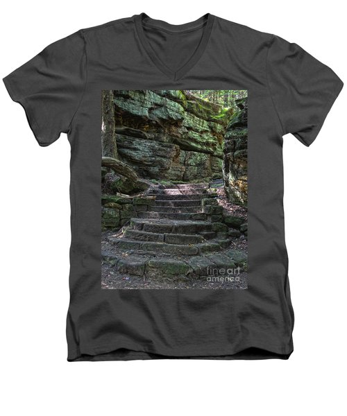 Cuyahoga Valley National Park Men's V-Neck T-Shirt by Jeannette Hunt
