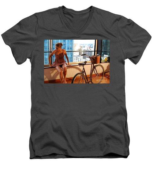 Cycle Introspection Men's V-Neck T-Shirt