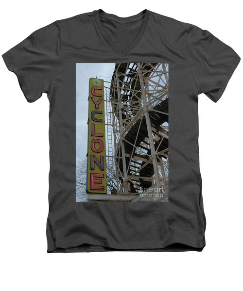 Cyclone - Roller Coaster Men's V-Neck T-Shirt