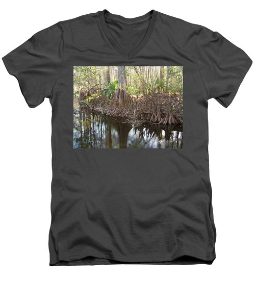 Cypress Swamp Men's V-Neck T-Shirt