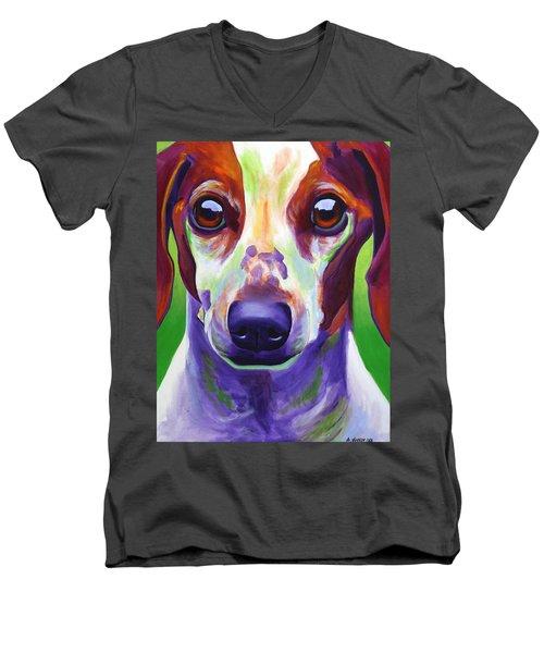 Dachshund - Cooper Men's V-Neck T-Shirt