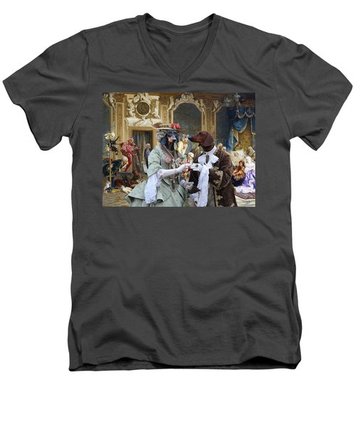 Dachshund Art - Royal Party Men's V-Neck T-Shirt