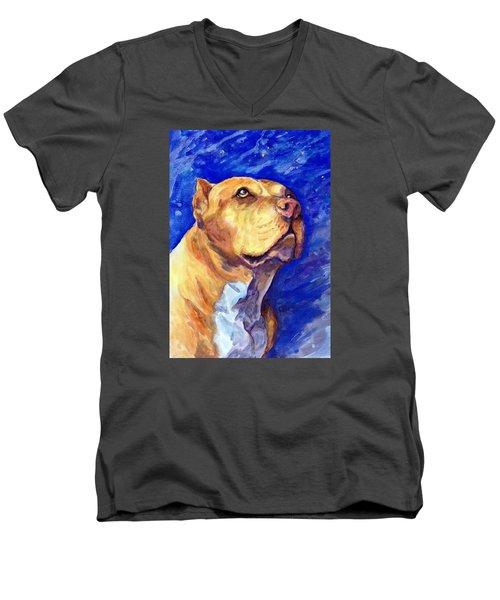 Daddy Men's V-Neck T-Shirt by Ashley Kujan