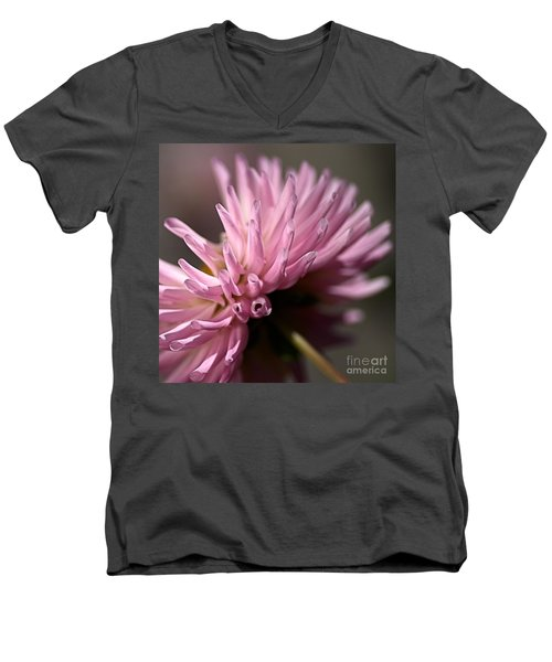 Men's V-Neck T-Shirt featuring the photograph Dahlia by Joy Watson