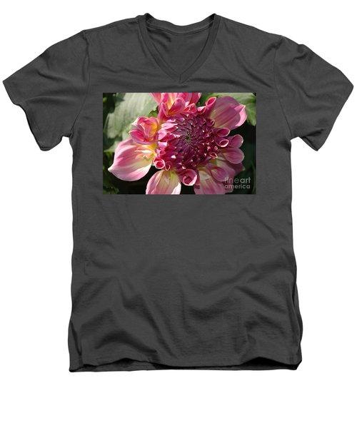 Dahlia V Men's V-Neck T-Shirt by Christiane Hellner-OBrien