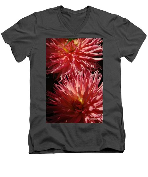 Men's V-Neck T-Shirt featuring the photograph Dahlia Vi by Christiane Hellner-OBrien