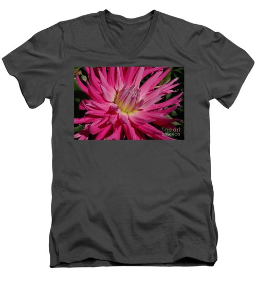 Men's V-Neck T-Shirt featuring the photograph Dahlia X by Christiane Hellner-OBrien