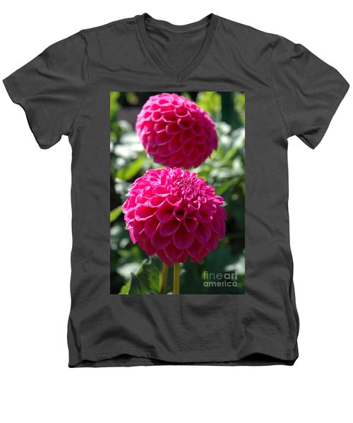 Men's V-Neck T-Shirt featuring the photograph Dahlia Xi by Christiane Hellner-OBrien