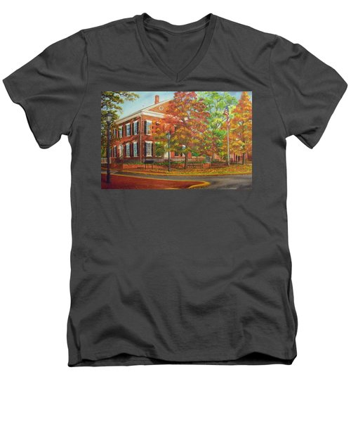Dahlonega's Gold Museum In Autumn Men's V-Neck T-Shirt
