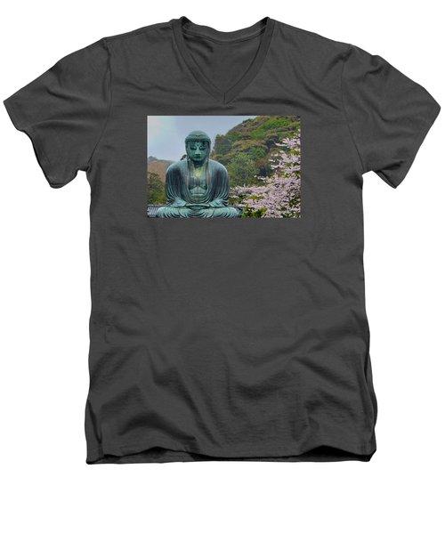 Daibutsu Buddha Men's V-Neck T-Shirt by Alan Toepfer