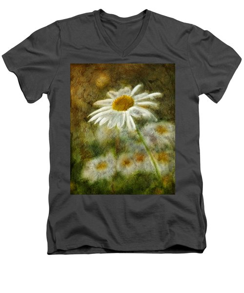 Daisies ... Again - P11at01 Men's V-Neck T-Shirt by Variance Collections