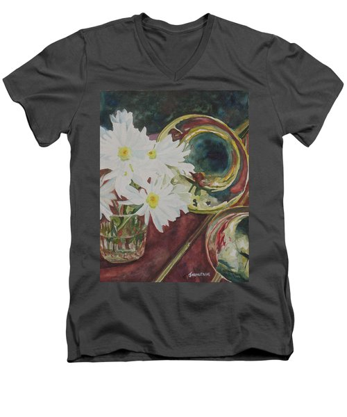 Daisies Bold As Brass Men's V-Neck T-Shirt